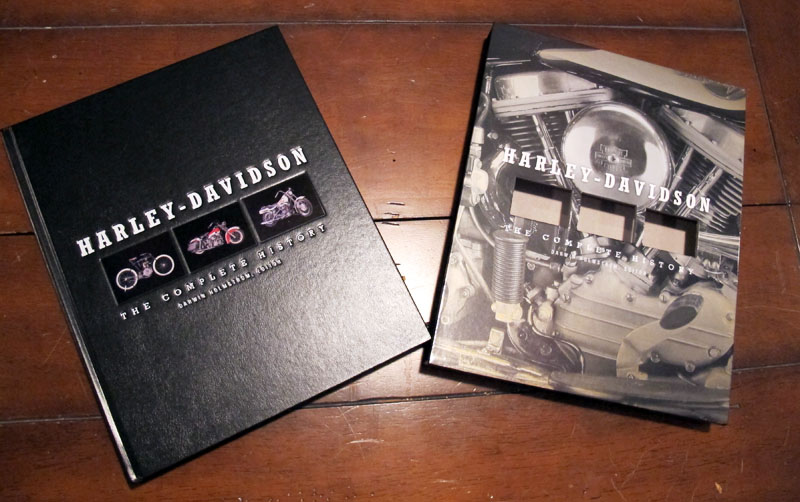 harley davidson coffee table style books complete history leather bound