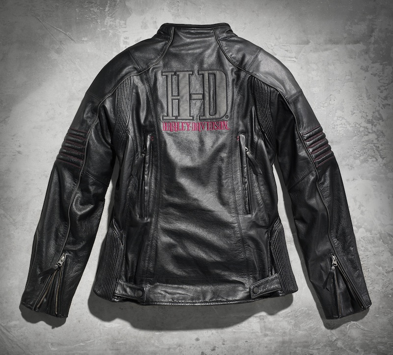 Sexy and Functional Leather Motorcycle Jackets Harley-Davidson Ava black back