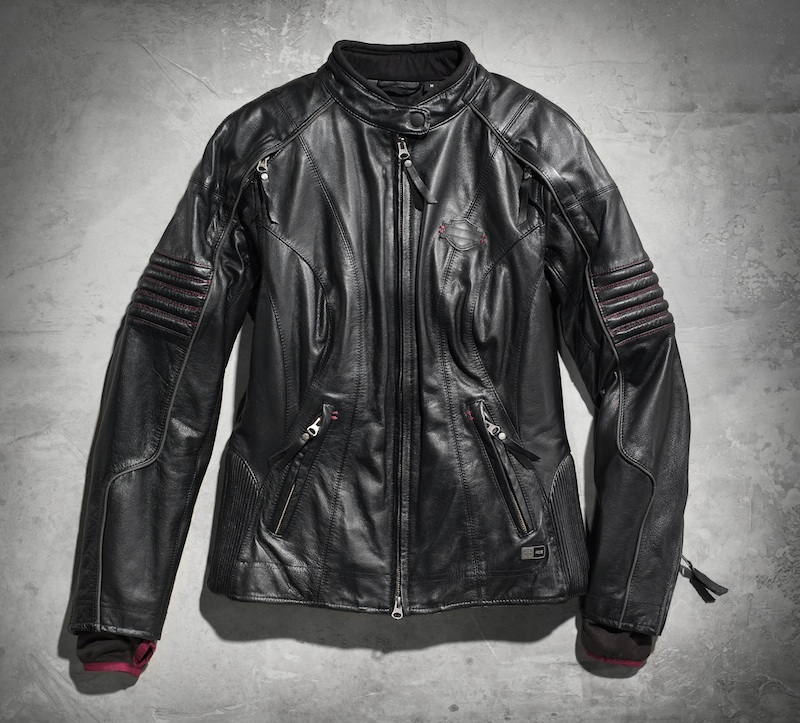 Sexy and Functional Leather Motorcycle Jacketss Harley-Davidson Ava black front