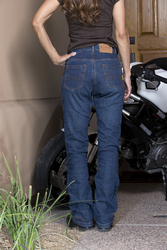 Review Sliders Bella Jeans With Kevlar and Armor backside