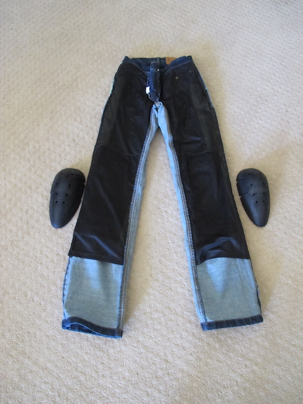 Review Sliders Bella Jeans With Kevlar and Armor front interior