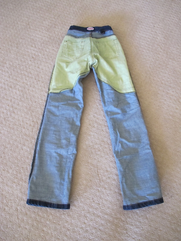 Review Sliders Bella Jeans With Kevlar and Armor back interior