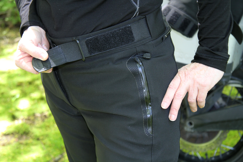 Clothing Review BMW TourShell Pants waistband