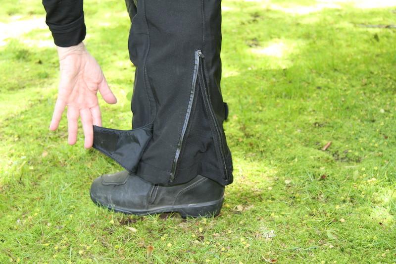 Clothing Review BMW TourShell Pants zipper flap
