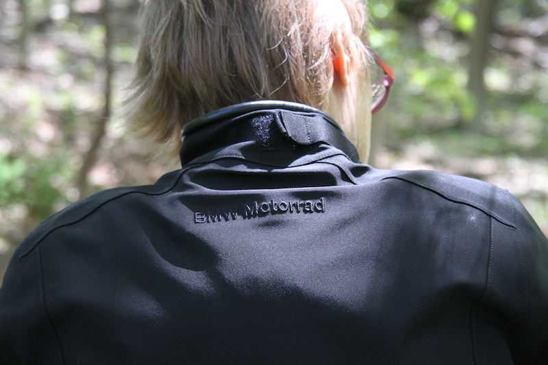 Clothing Review BMW TourShell Jacket collar