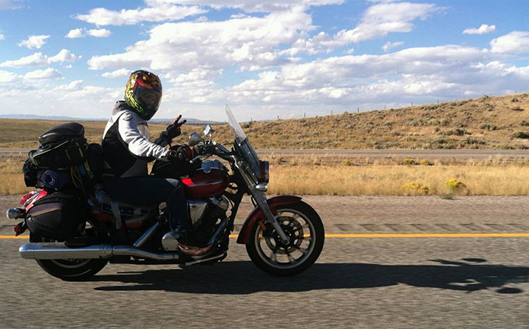 dreaming about long motorcycle ride action