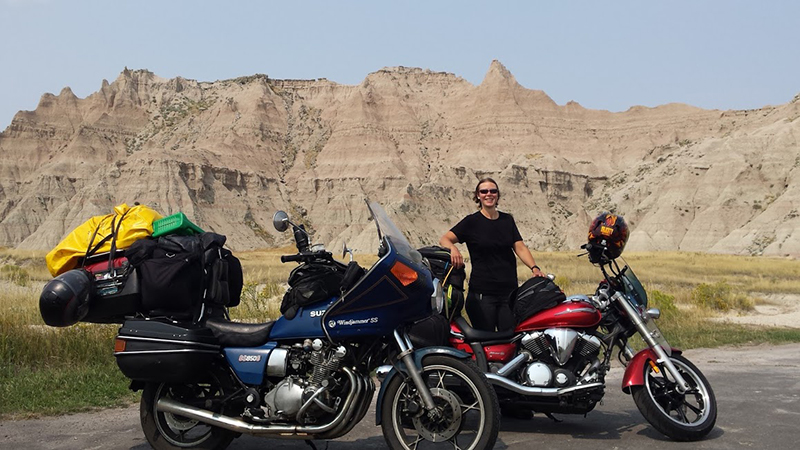 dreaming about long motorcycle ride Badlands