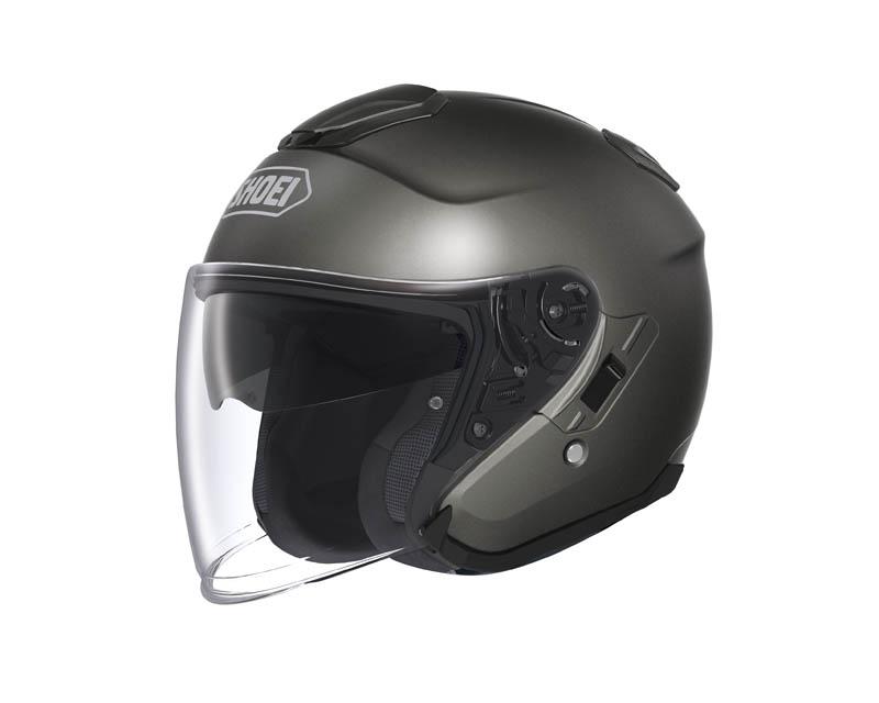 review shoei j cruise open face helmet anthracite metallic