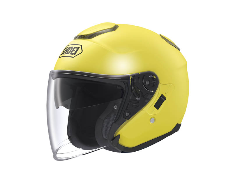 review shoei j cruise open face helmet brilliant yellow