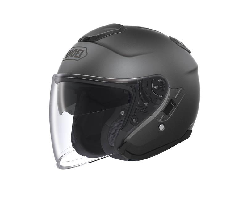 review shoei j cruise open face helmet matte deep gray