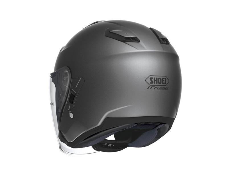 review shoei j cruise open face helmet rear