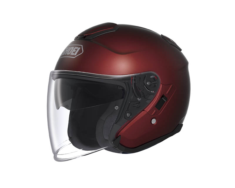review shoei j cruise open face helmet wine red