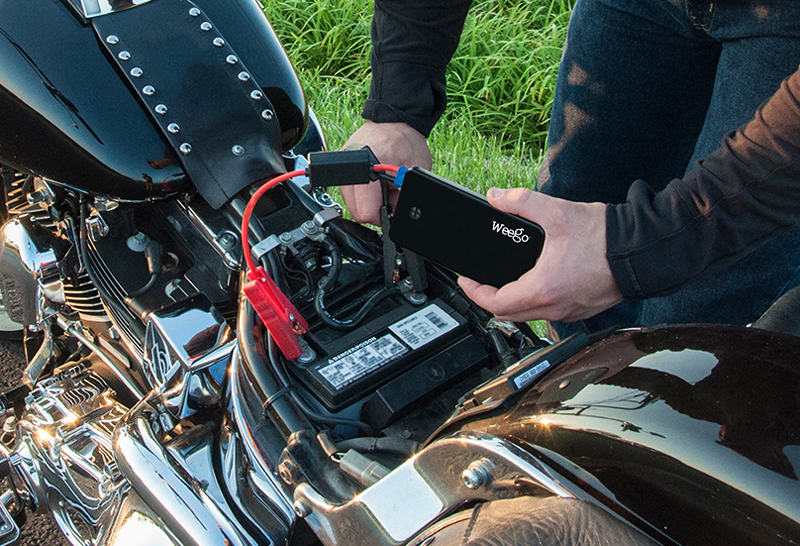 jump starter for your motorcycle battery weego harley
