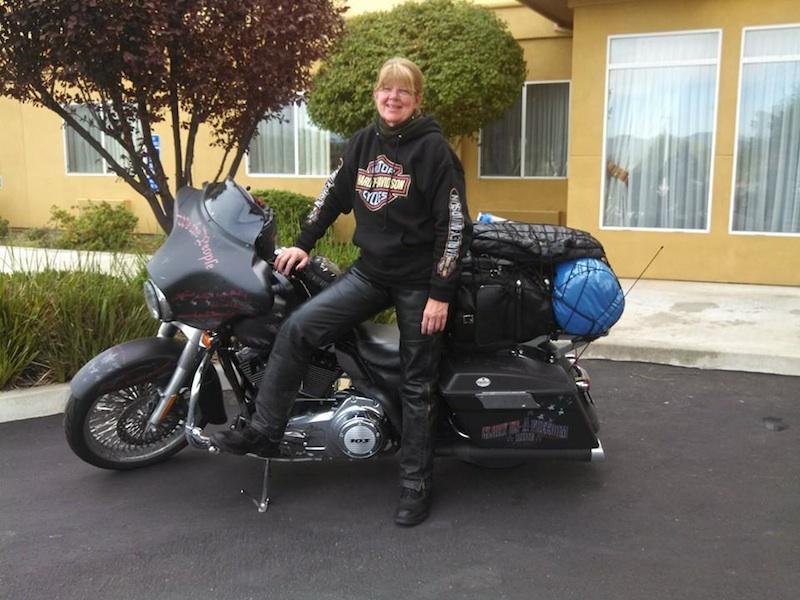 Joan Krenning Reaches 30000 Miles Street Glide