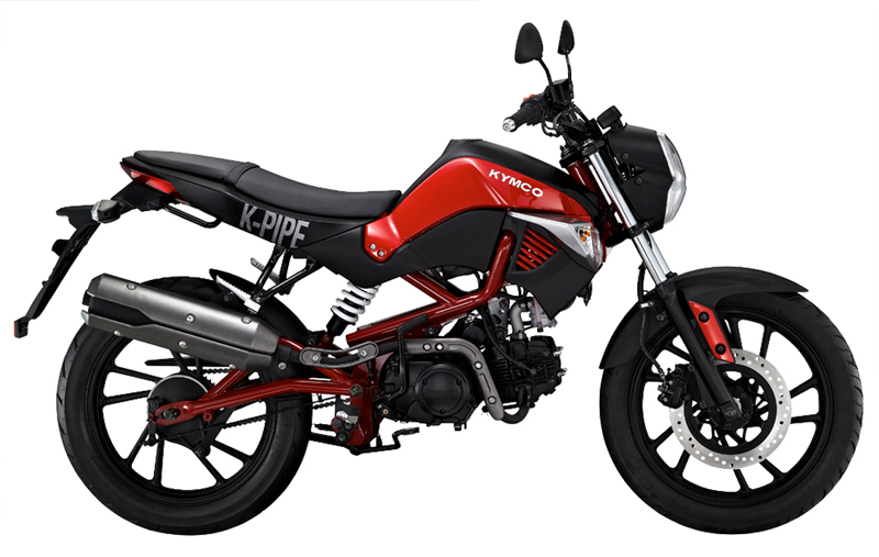 new beginner motorcycle hits the market kymco k pipe red