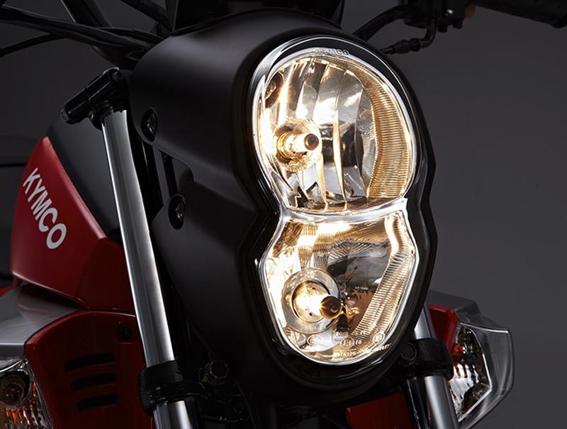 new beginner motorcycle hits the market kymco k pipe headlight