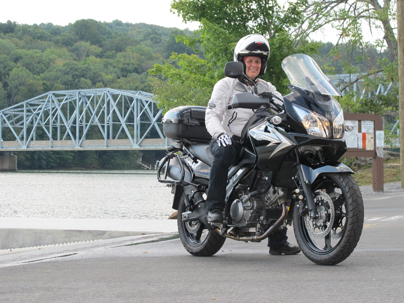 making her dream of riding a motorcycle come true suzuki v strom 650