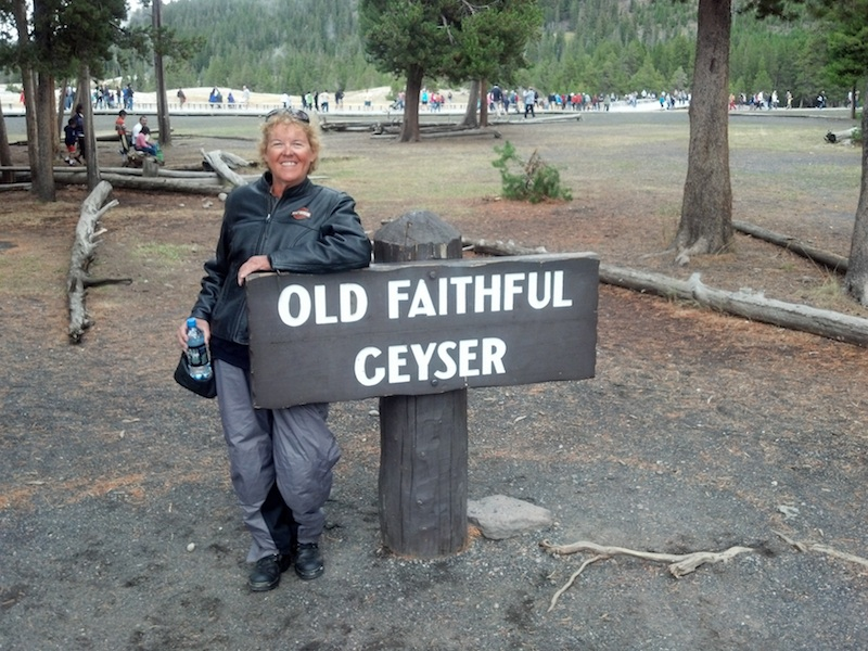 Reader Stories My Motorcycle Trip of a Lifetime Old Faithful Geyser sign