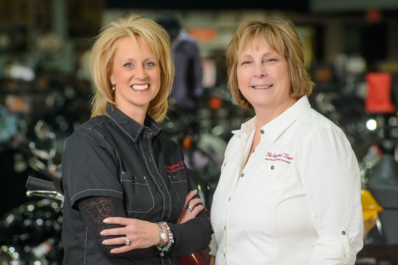 two women riders retrace history on cross country trip lisa brouwer kris haase