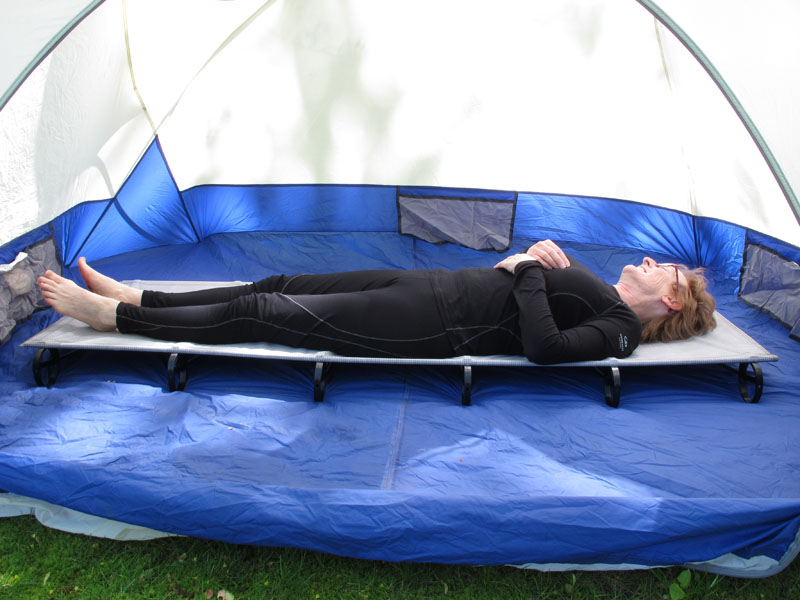 review thermarest luxurylite ultralite cot for motorcycle camping sleeping