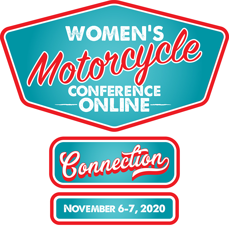 womens motorcycle conference online connections logo
