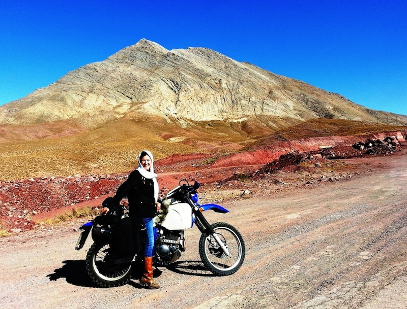 A women tours iran on her motorcycle Lois Pryce