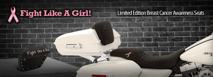 Fight Like A Girl with Pink Options for Motorcycle Seats