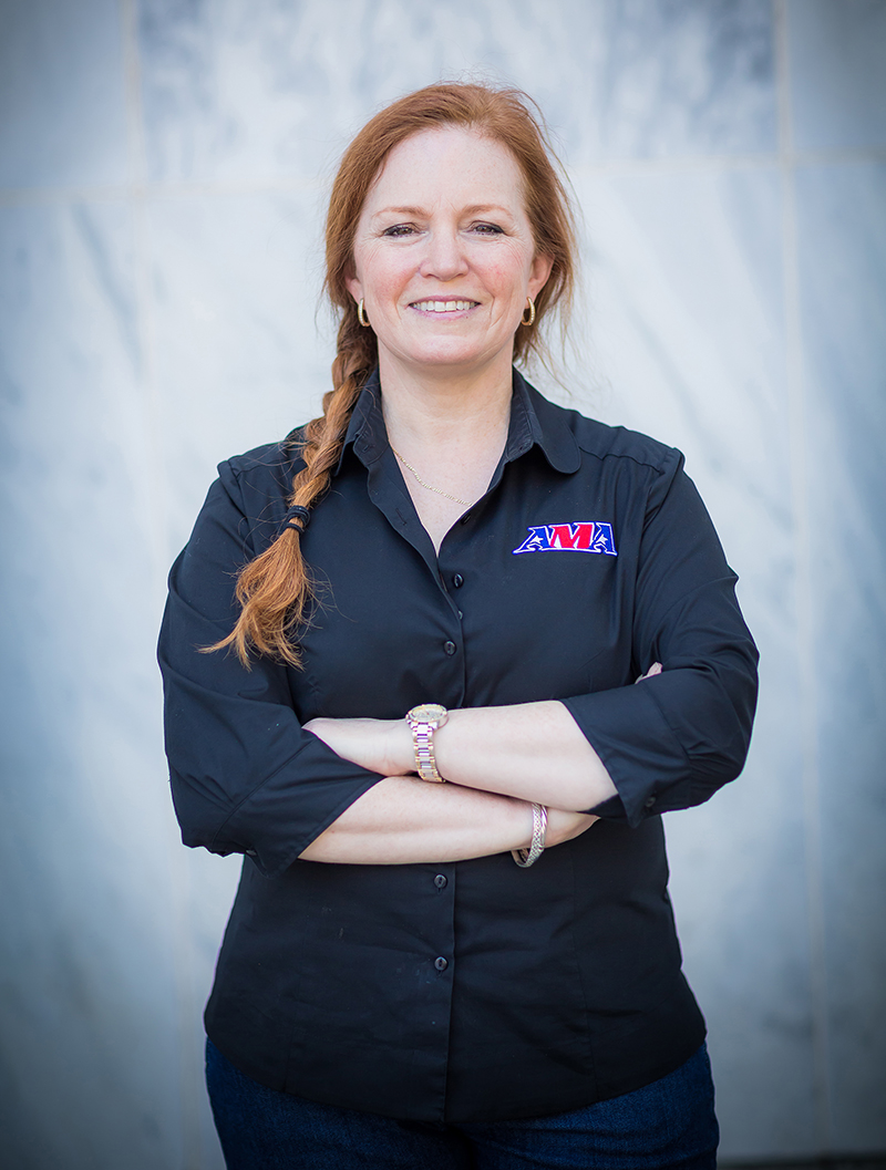 motorcycle industry leader maggie mcnally wrn director rider outreach ama chairwoman