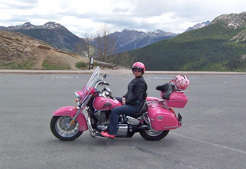 your motorcycles: hippochicks pink honda vtx 1300s profile