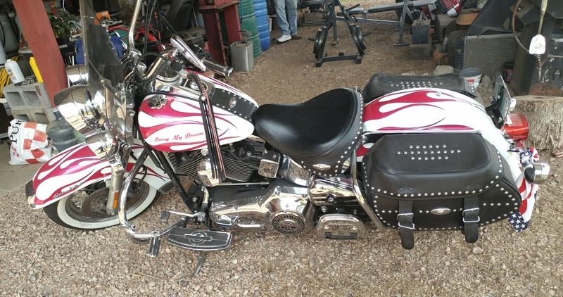 pink motorcycles maria saucedo heritage softail