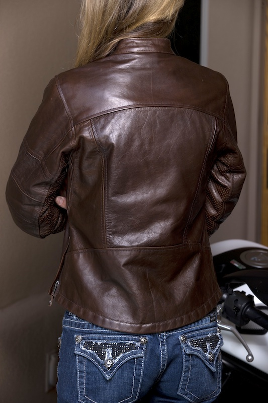 clothing review roland sands designs maven leather jacket back view