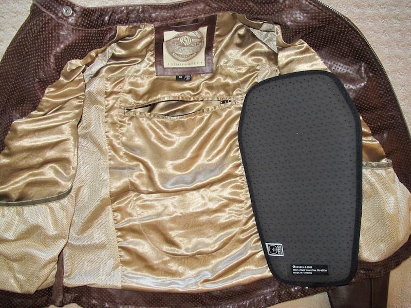 clothing review roland sands design maven leather jacket back armor