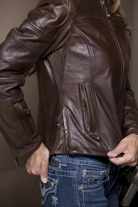 clothing review roland sands design maven leather jacket perforated panel