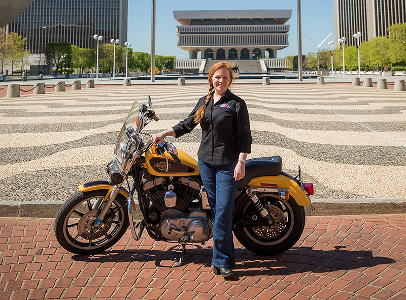 motorcycle industry leader maggie mcnally wrn director rider outreach sportster