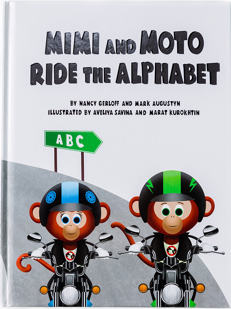 mimi and moto monkey childrens books hardcover alphabet gift guide 2020