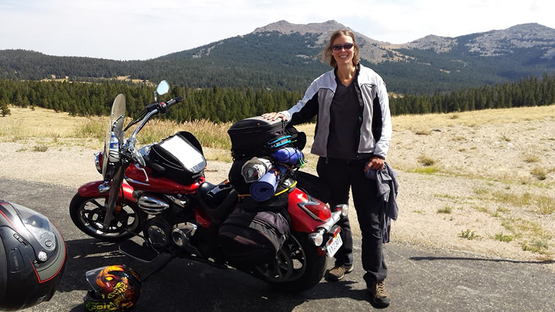 dreaming about long motorcycle ride mountain