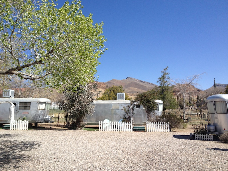 Review Shady Dell Bisbee Arizona trailers mountains