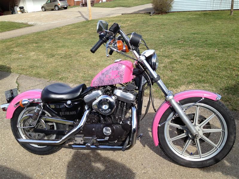 pink motorcycles 1988 harley davidson sportster