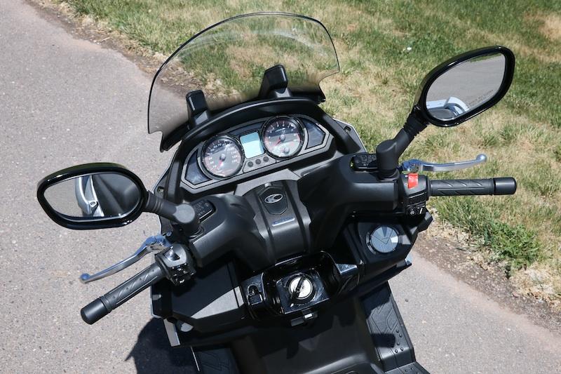 Scooter Review Kymco MyRoad windsheild digital display