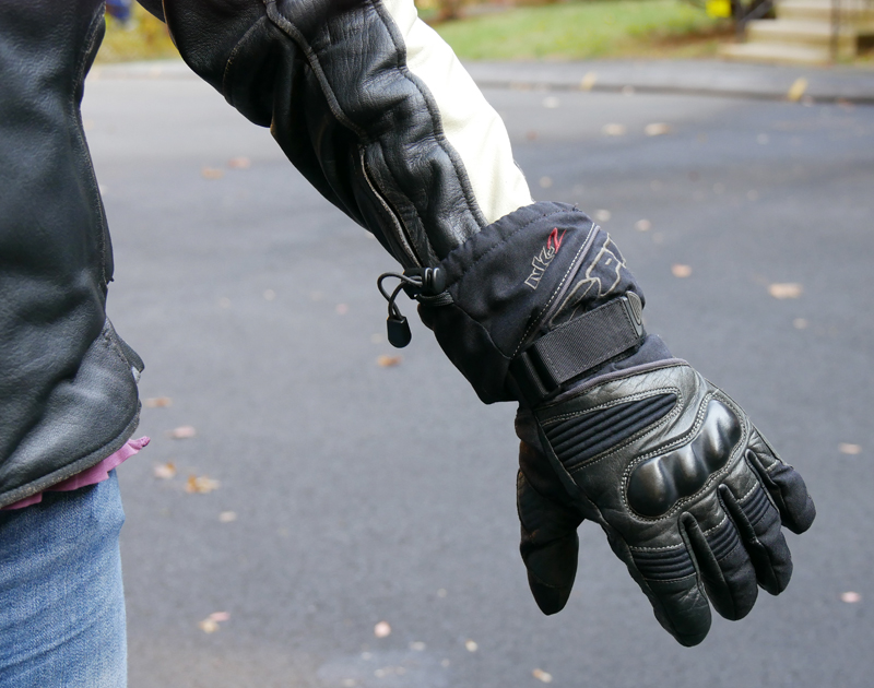 review vintage styled leather womens motorcycle jacket cuff glove