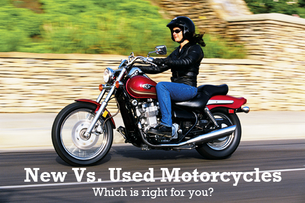 An exploration of the pros and cons of buying a motorcycle off the used market versus right out of the crate.