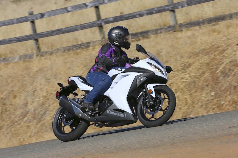 The Kawasaki Ninja 300 has a seat height of 30.9 inches.