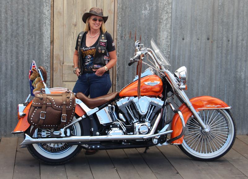 a customized softail deluxe that gets around linda norman
