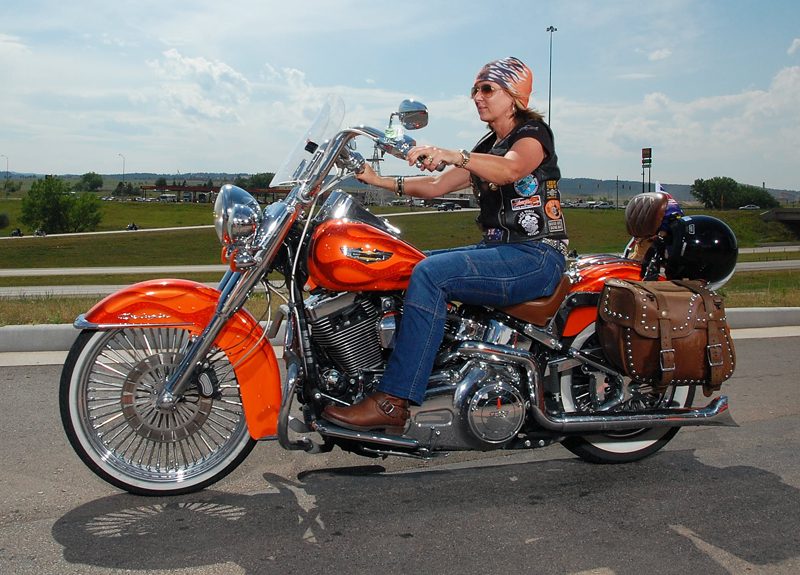 a customized softail deluxe that gets around linda norman riding