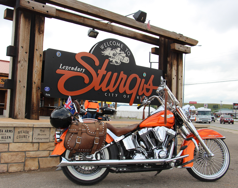 a customized softail deluxe that gets around linda norman sturgis