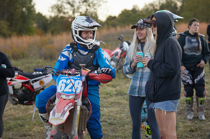over and out moto women's off road event dirt hanging out camping
