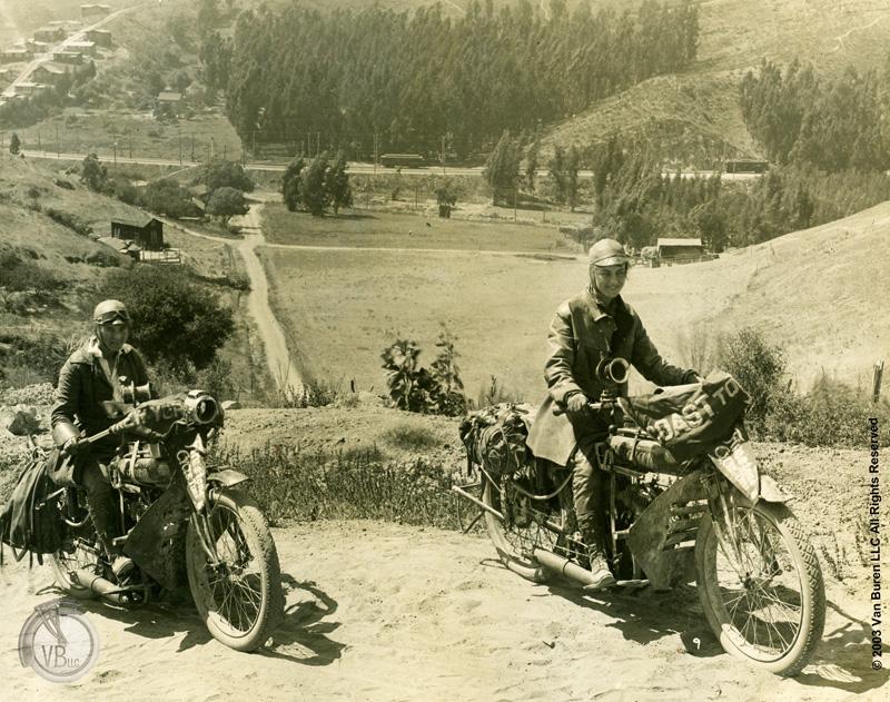 van buren sisters 1916 cross country motorcycle ride indians power plus