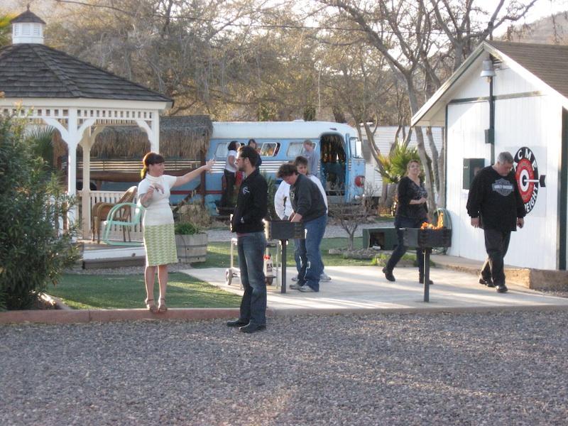 Review Shady Dell Bisbee Arizona airporter tiki bus