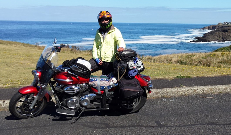 dreaming about long motorcycle ride Pacific