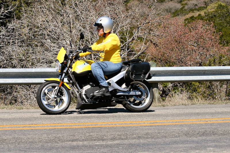 Learning to ride Buell Blast